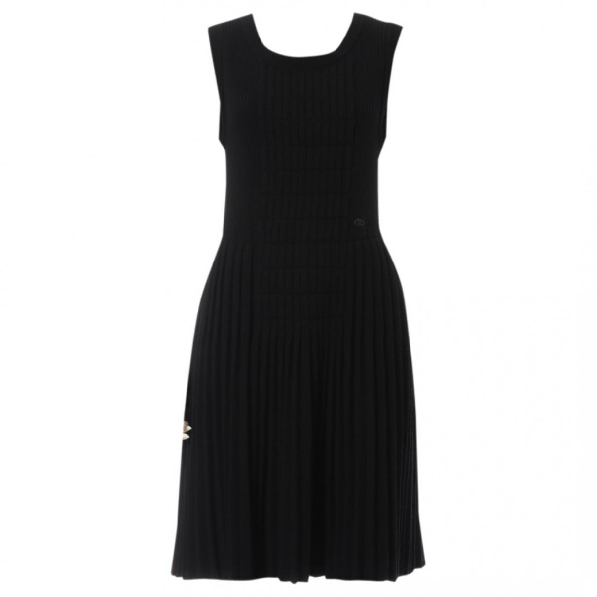 Chanel \N Kleid in  Schwarz Wolle