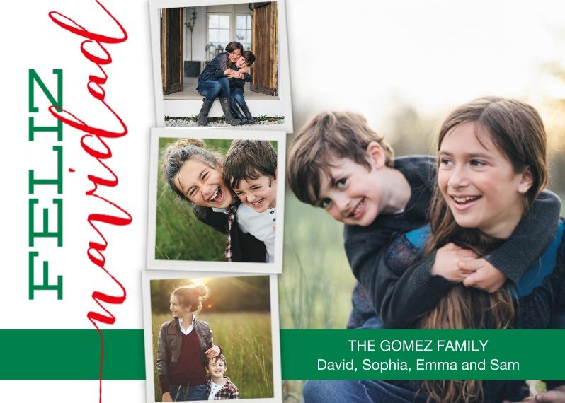 Tarjetas de Navidad 5x7 Cards, Standard Cardstock 85lb, Card & Stationery -Navidad in Photos by Posh Paper