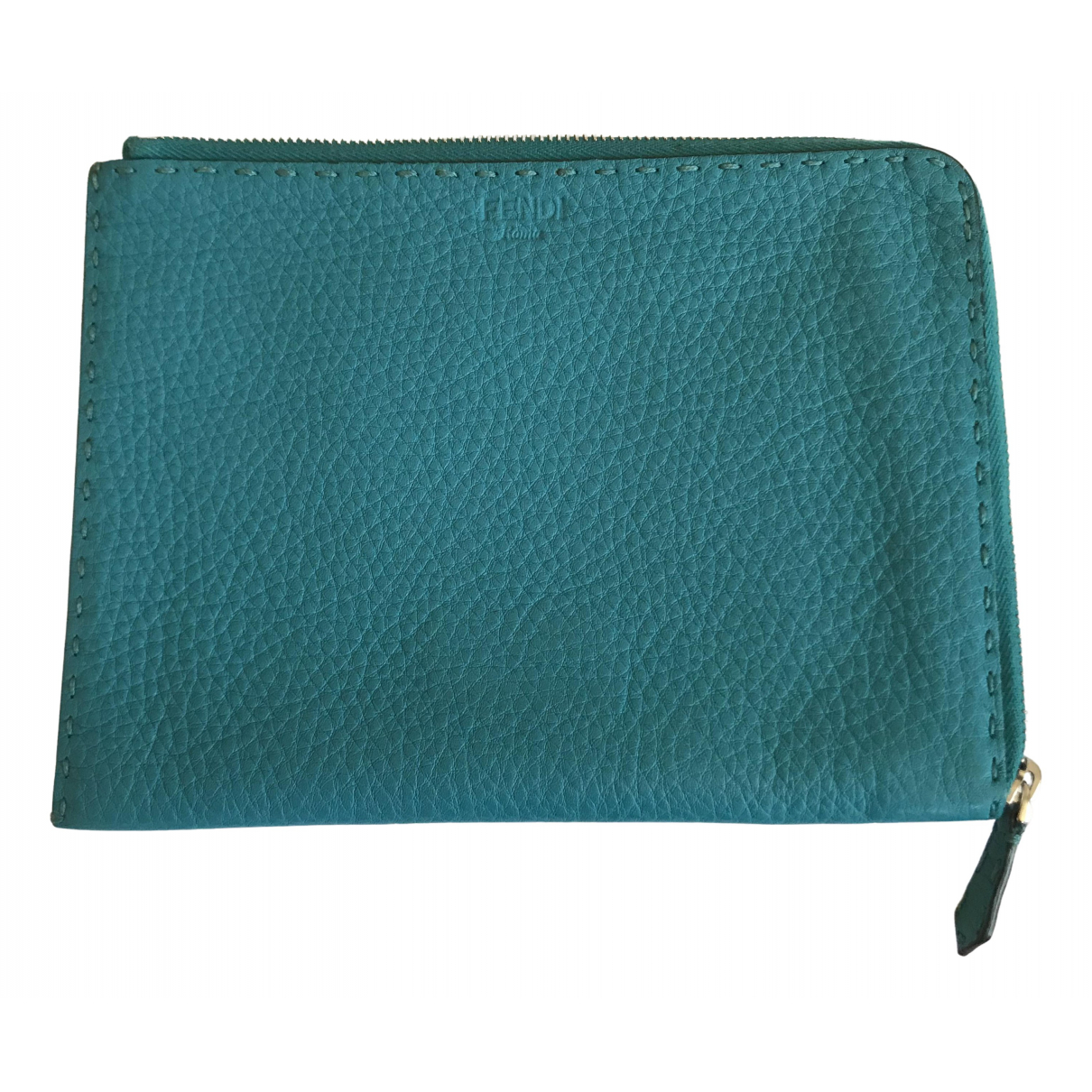 Fendi \N Turquoise Leather Clutch bag for Women \N