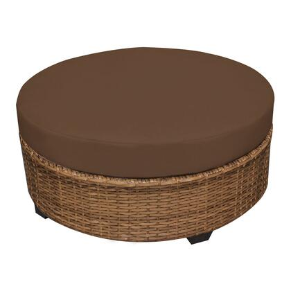 TKC025b-CTRND-COCOA Laguna Round Coffee Table with 2 Covers: Wheat and
