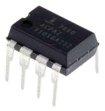 Renesas Electronics ICL7660ACPAZ, Charge Pump Inverting, Step Up, -12 → -1.5 V 8-Pin, PDIP (5)