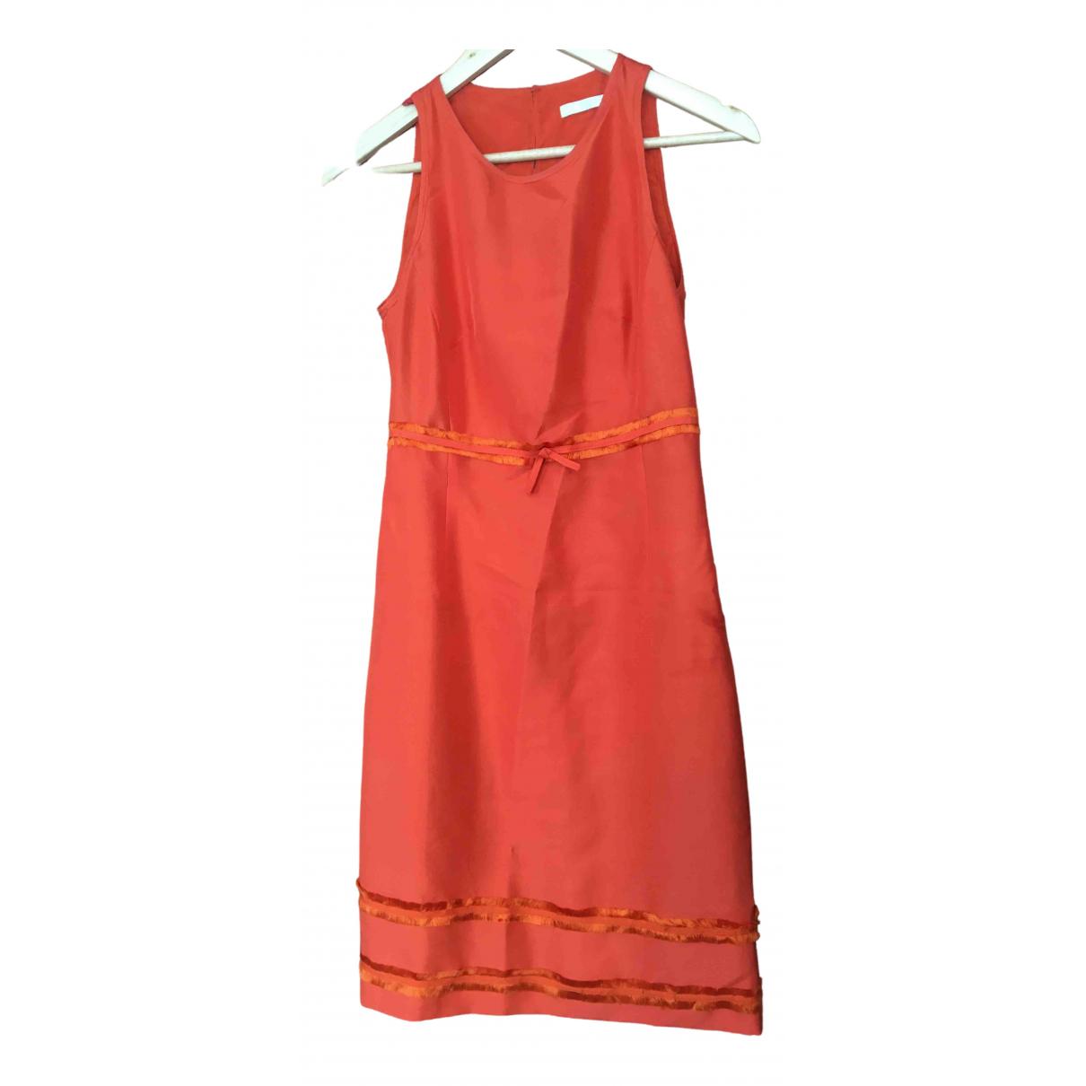 Paule Ka \N Kleid in  Orange Seide