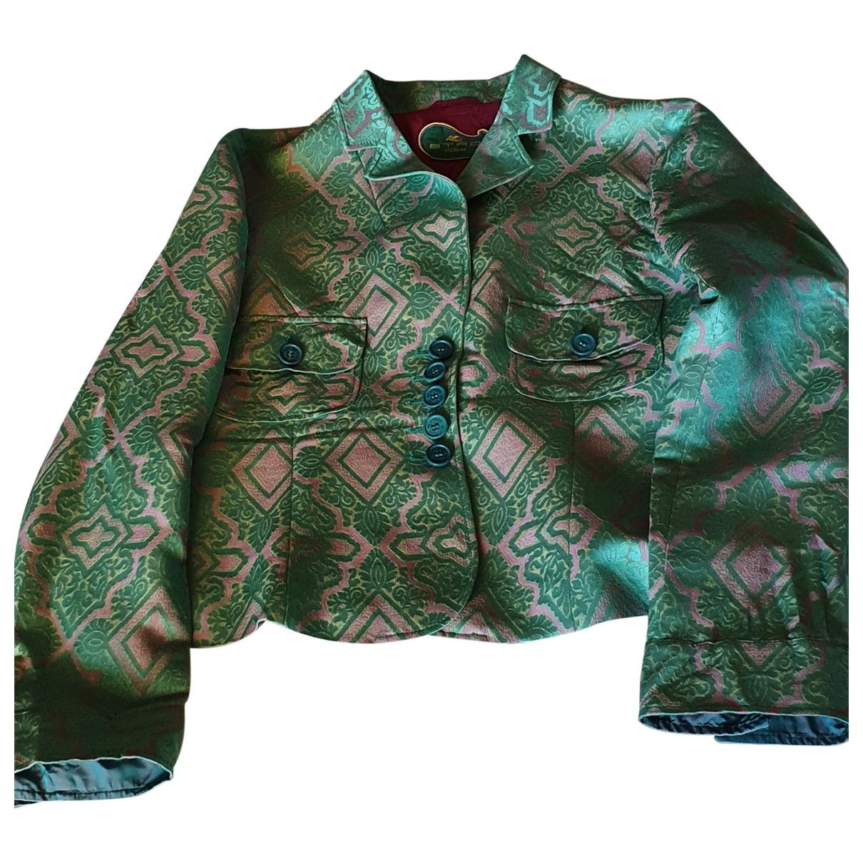 Etro \N Jacke in  Gruen Polyester