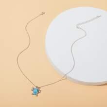 Halskette mit Meeresschildkrote Anhaenger