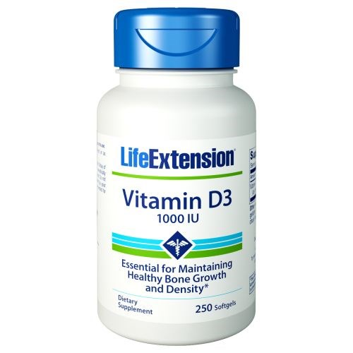 Vitamin D3 250 Softgels by Life Extension
