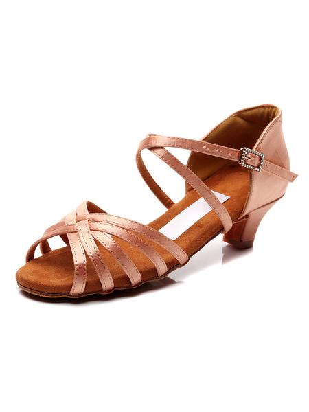 Milanoo Niños baile latino zapatos de los zapatos de la muchacha de baile de salon