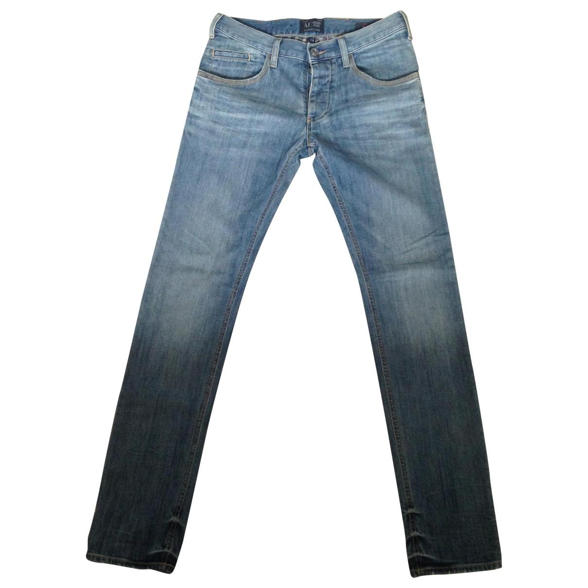 Armani Jeans \N Blue Cotton - elasthane Jeans for Men 29 US