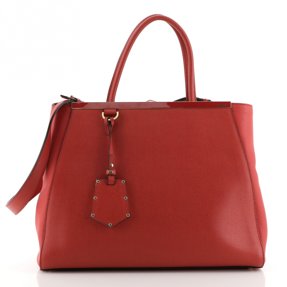 Fendi \N Handtasche in  Rot Leder
