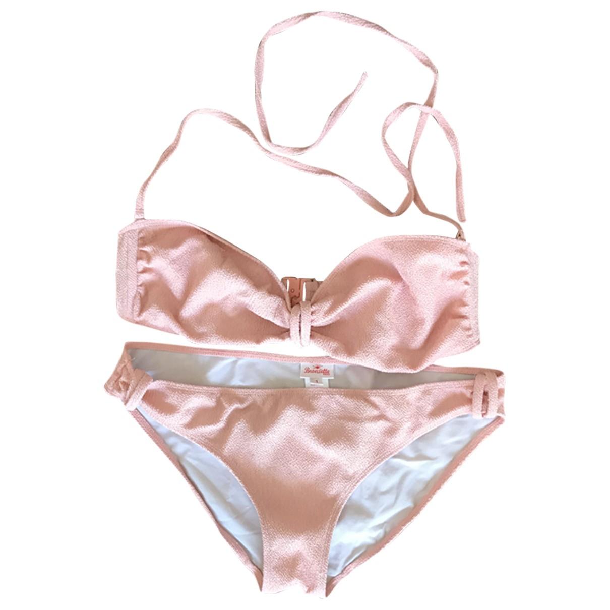 Bronzette \N Badeanzug in  Rosa Baumwolle - Elasthan