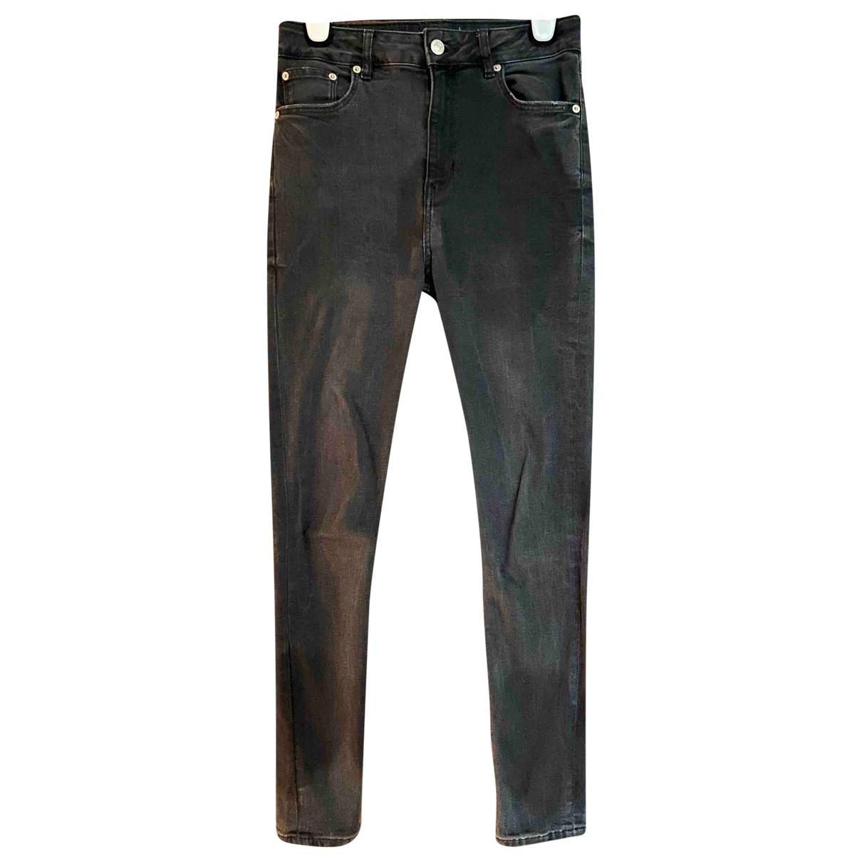 Zara N Grey Cotton Jeans for Women 38 FR