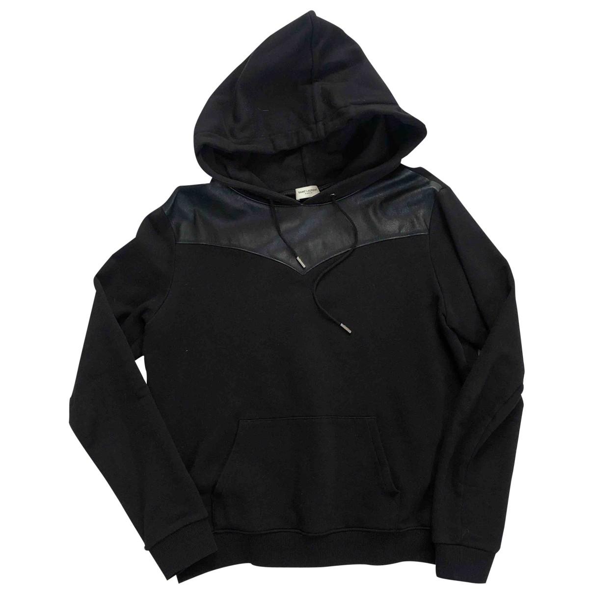 Saint Laurent \N Black Cotton Knitwear & Sweatshirts for Men L International