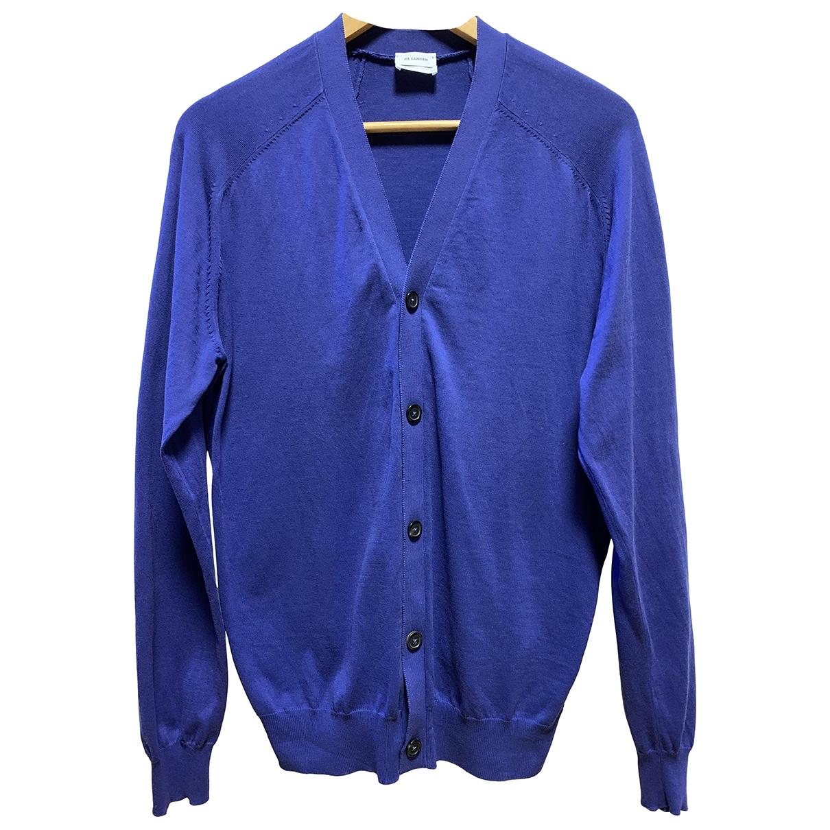 Jil Sander \N Pullover.Westen.Sweatshirts  in  Marine Baumwolle