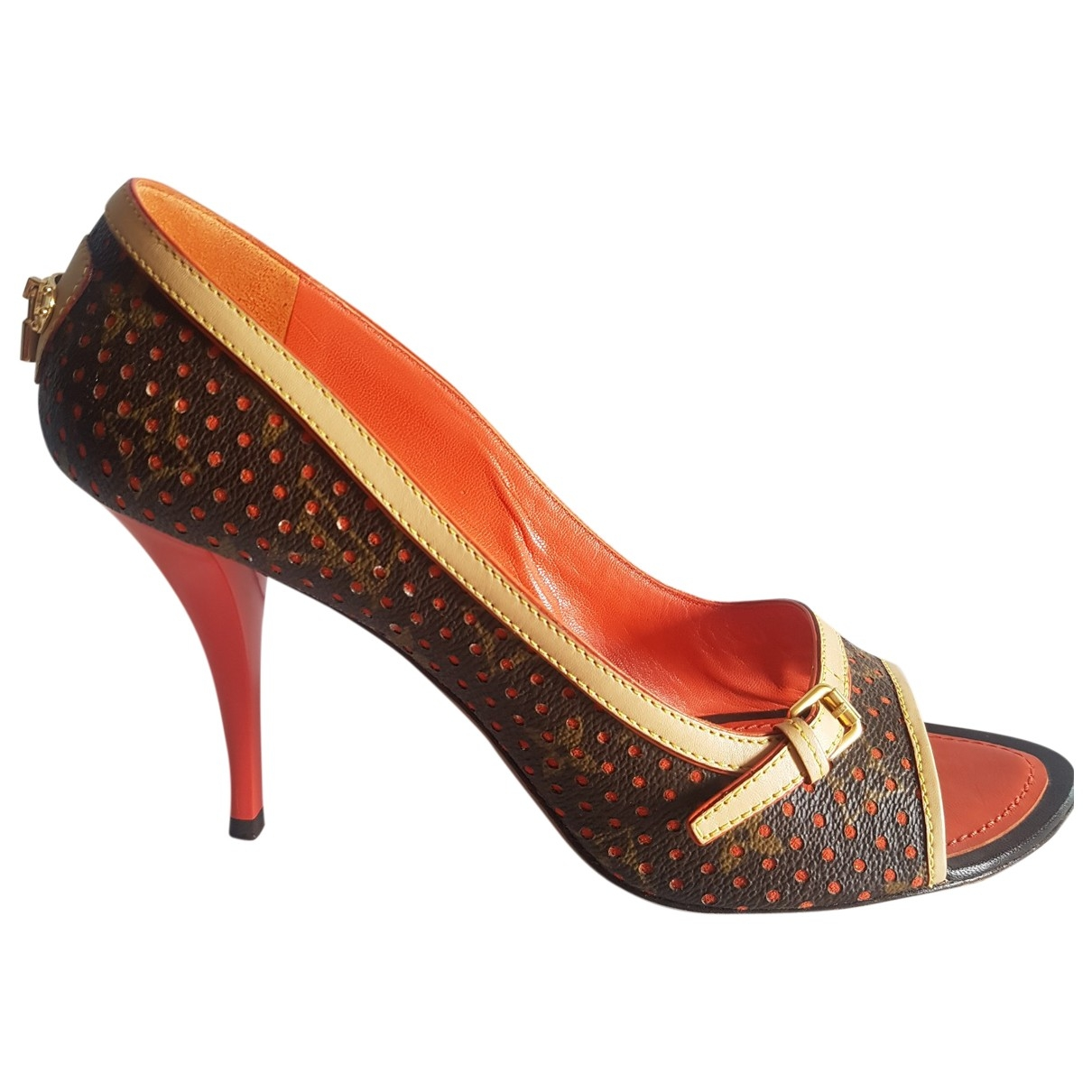 Louis Vuitton \N Orange Leather Sandals for Women 41 EU