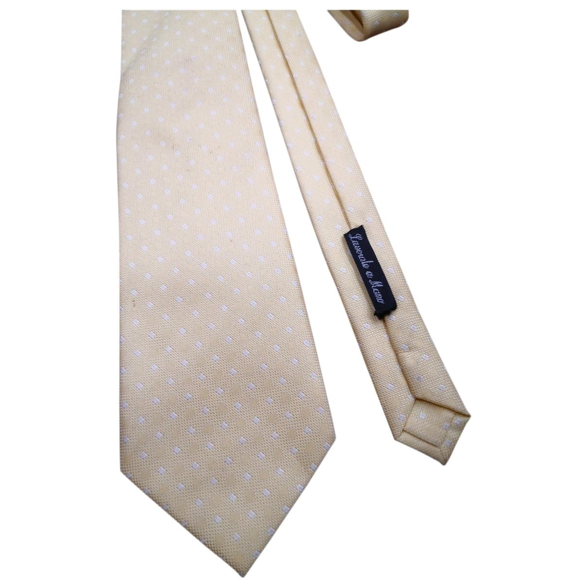 Valentino Garavani \N Krawatten in  Gelb Seide