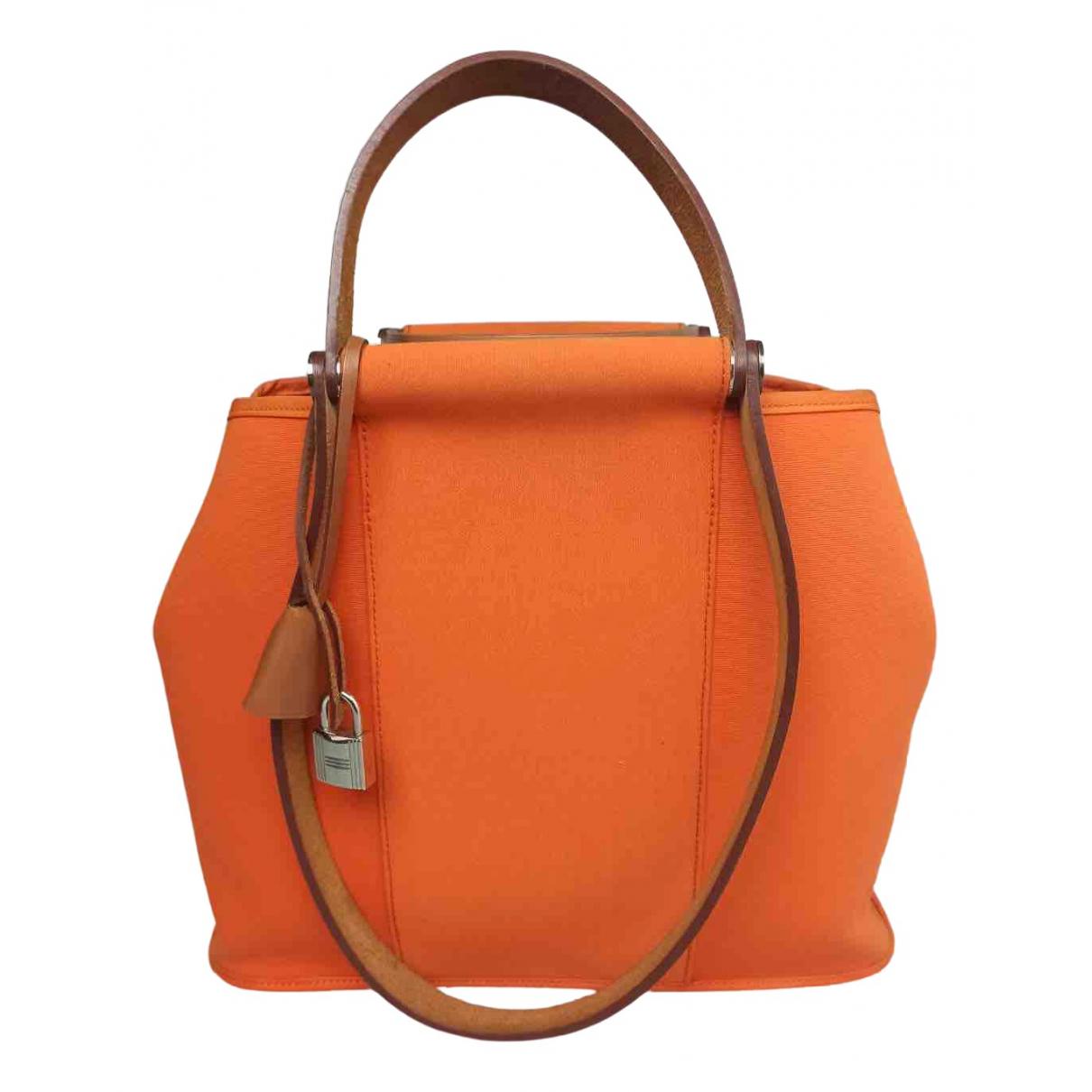 Hermes Cabag Handtasche in  Orange Leinen