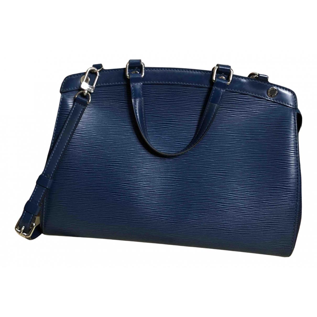 Louis Vuitton - Sac a main Brea pour femme en cuir - bleu
