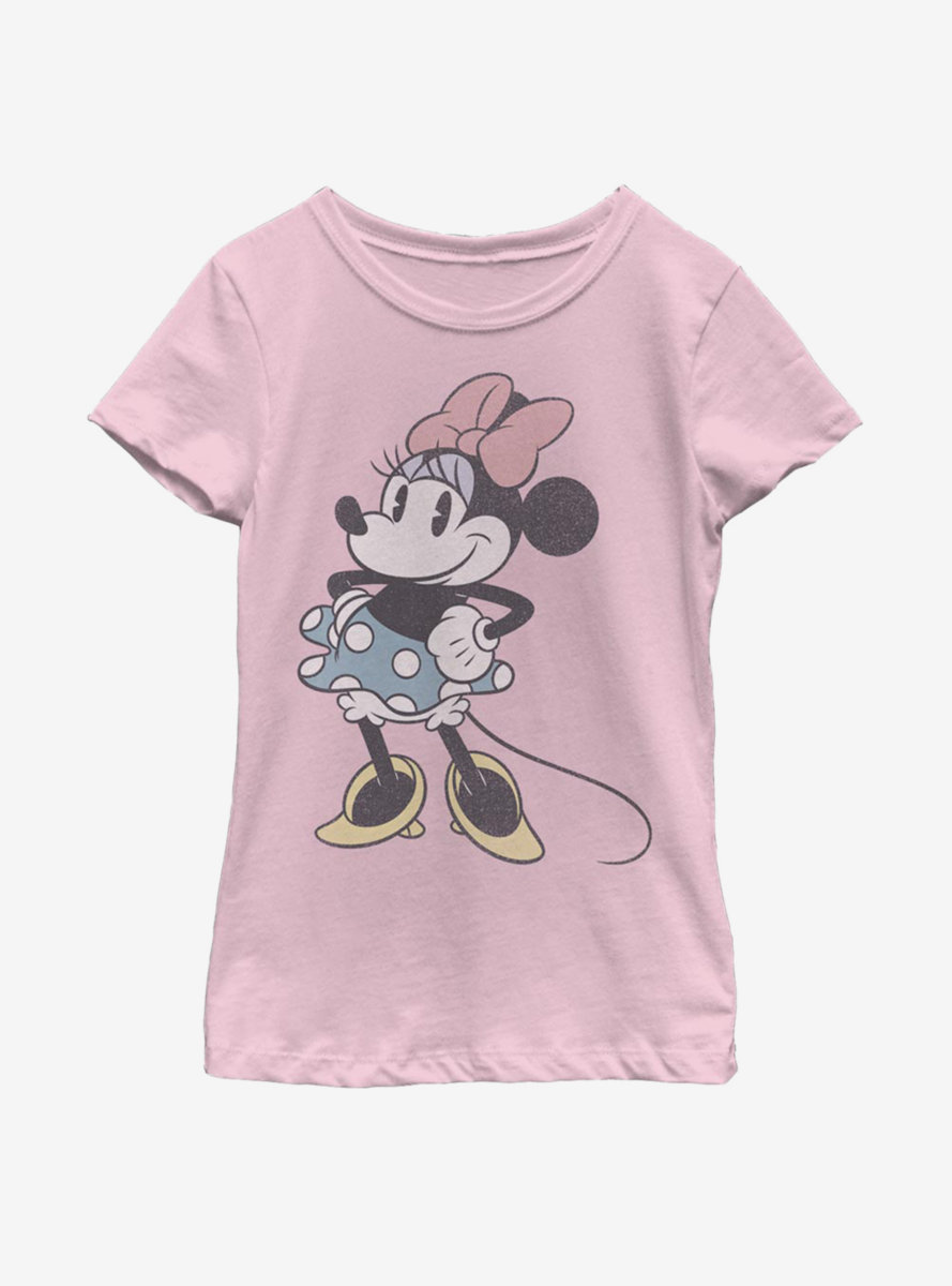 Disney Mickey Mouse Minnie Stand Youth Girls T-Shirt
