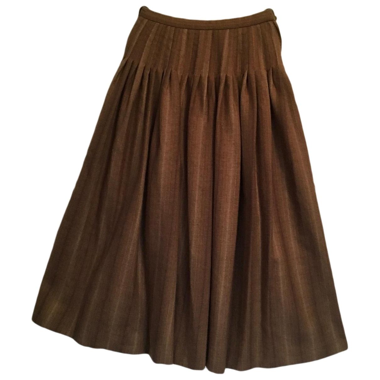 Yves Saint Laurent \N Brown Wool skirt for Women 38 FR
