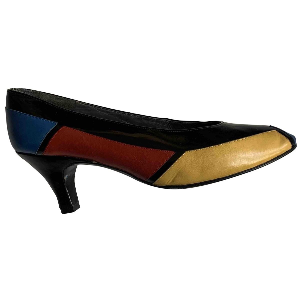 Charles Jourdan - Escarpins   pour femme en cuir - multicolore