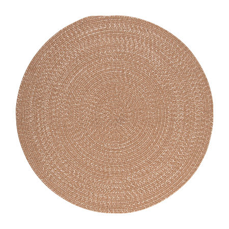 Colonial Mills American Tweed Braided Round Reversible Indoor Rugs, One Size , Yellow