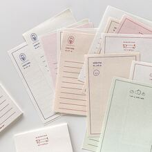 1pack Letter Graphic Memo Pad