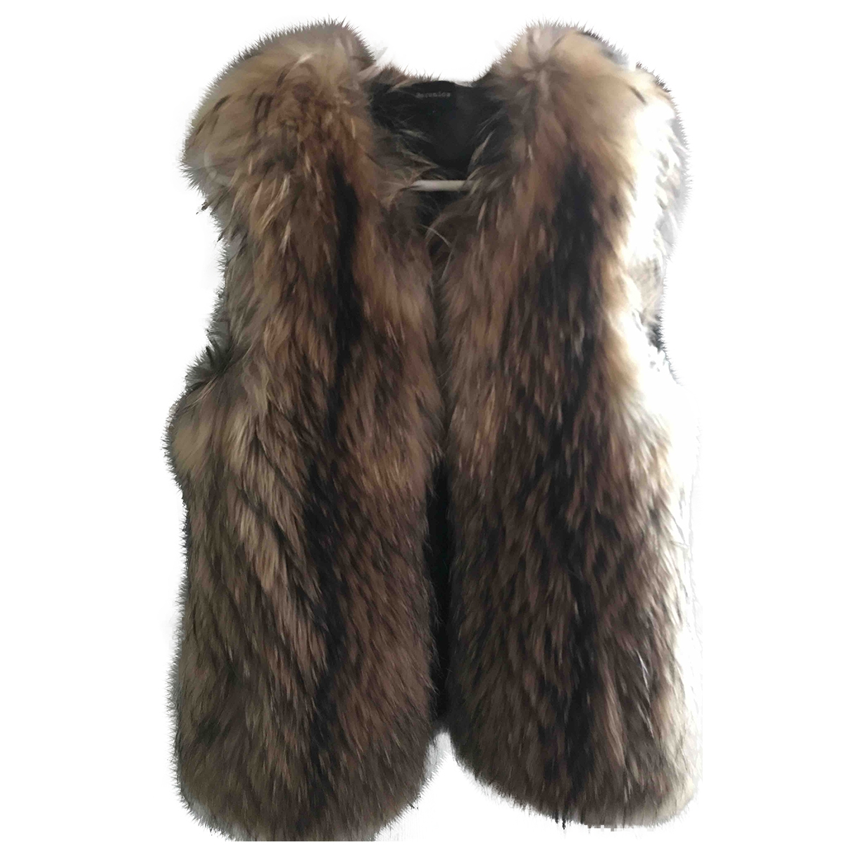 Berenice \N Beige Raccoon coat for Women 36 FR