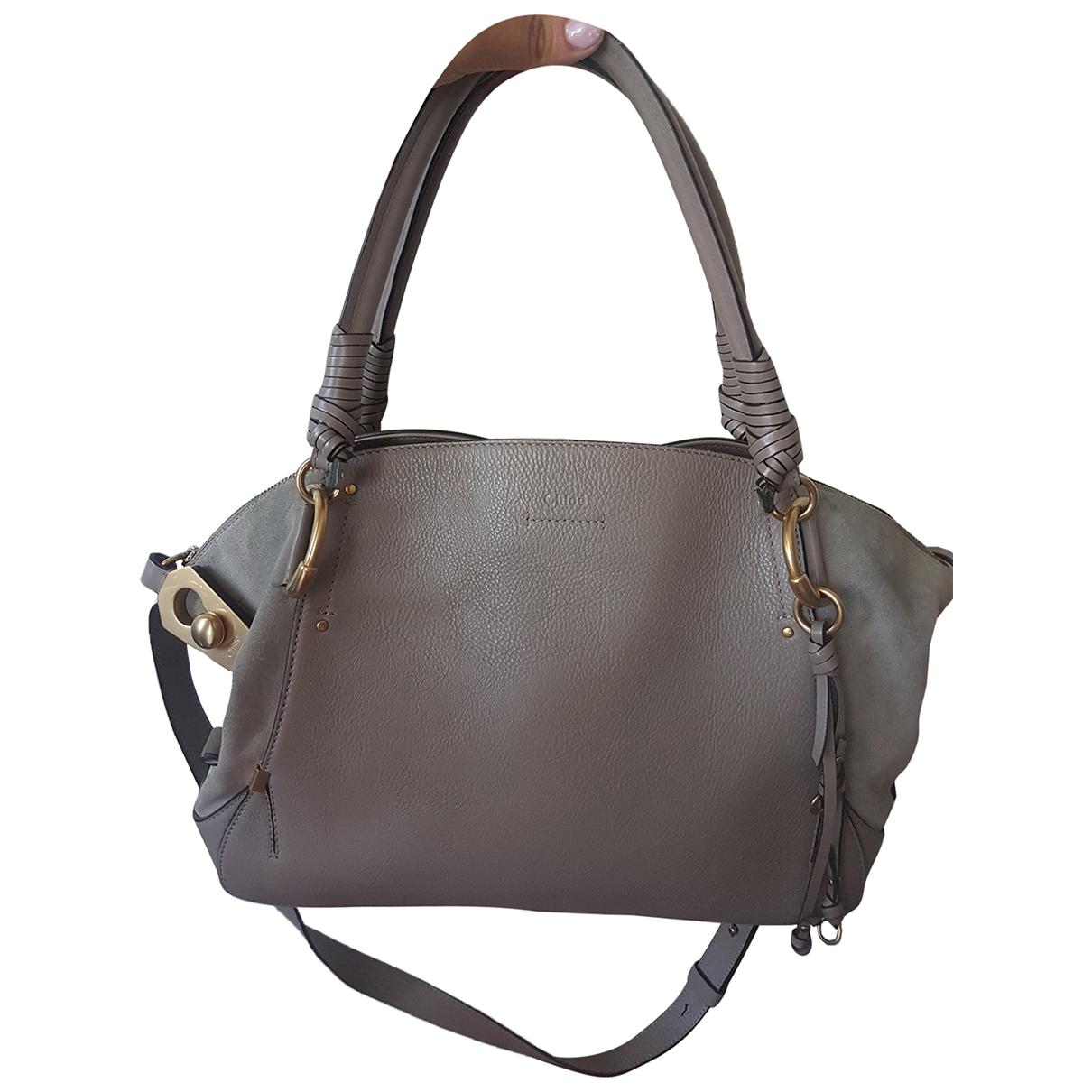 Chloé \N Grey Leather handbag for Women \N