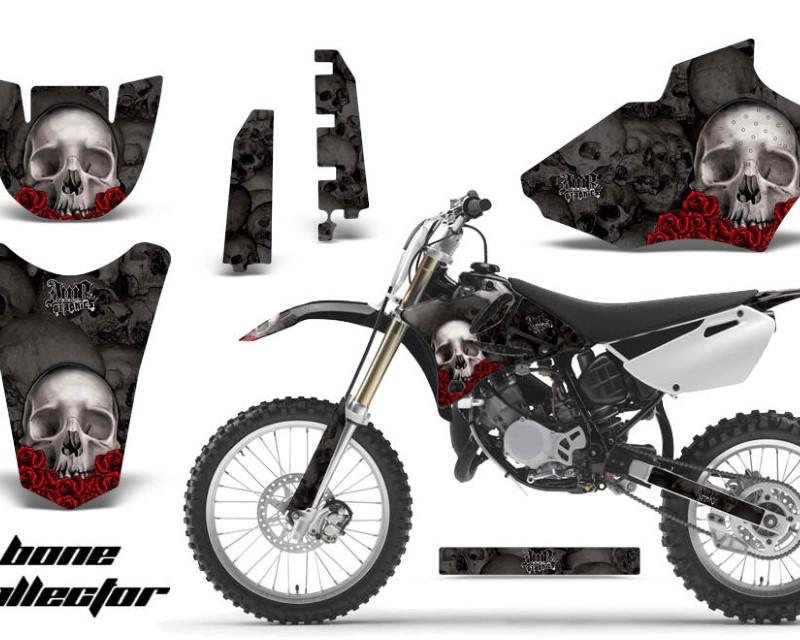 AMR Racing Dirt Bike Decal Graphics Kit MX Sticker Wrap For Yamaha YZ85 2002-2014áBONES BLACK