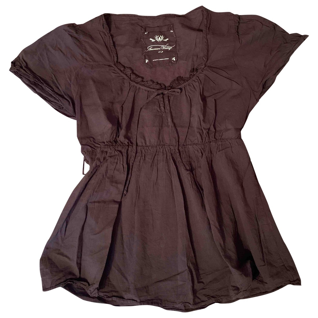 American Vintage \N Brown Cotton  top for Women 38 FR