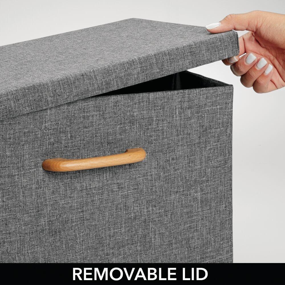 Large - Fabric Cube Home Storage Box, Closet Organizer in Gray, 10.25