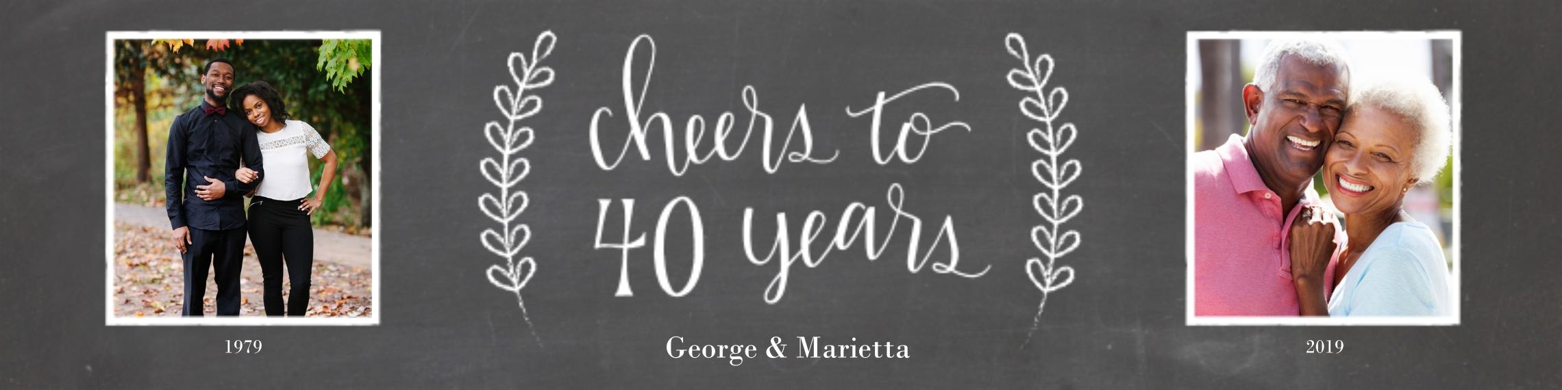 Anniversary 2x8 Adhesive Banner, Home Décor -Chalkboard Anniversary