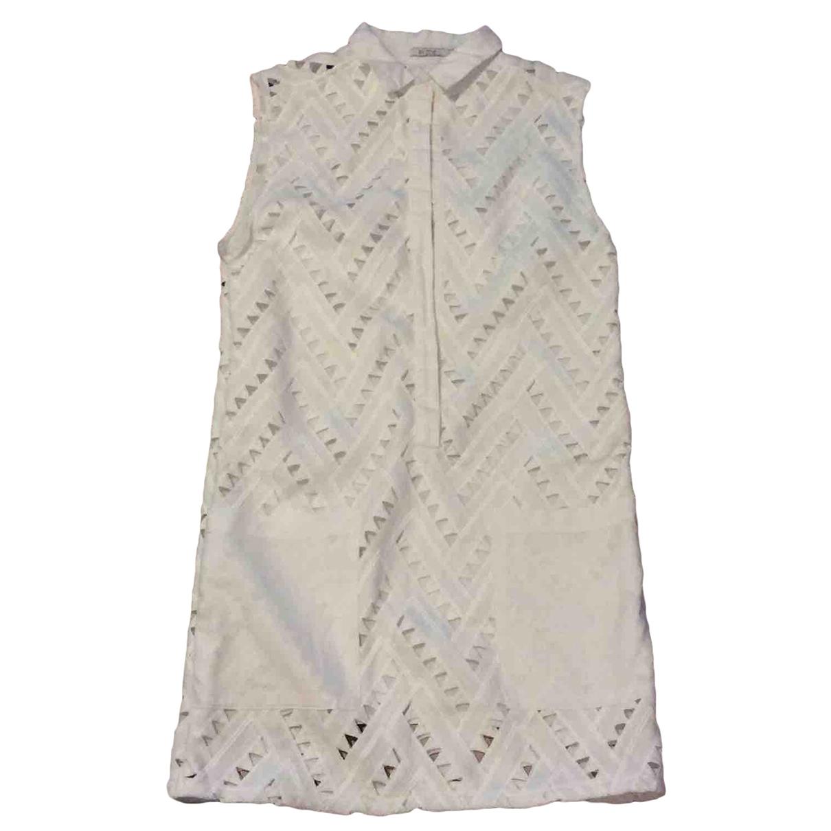 By Zoe - Robe   pour femme en coton - blanc