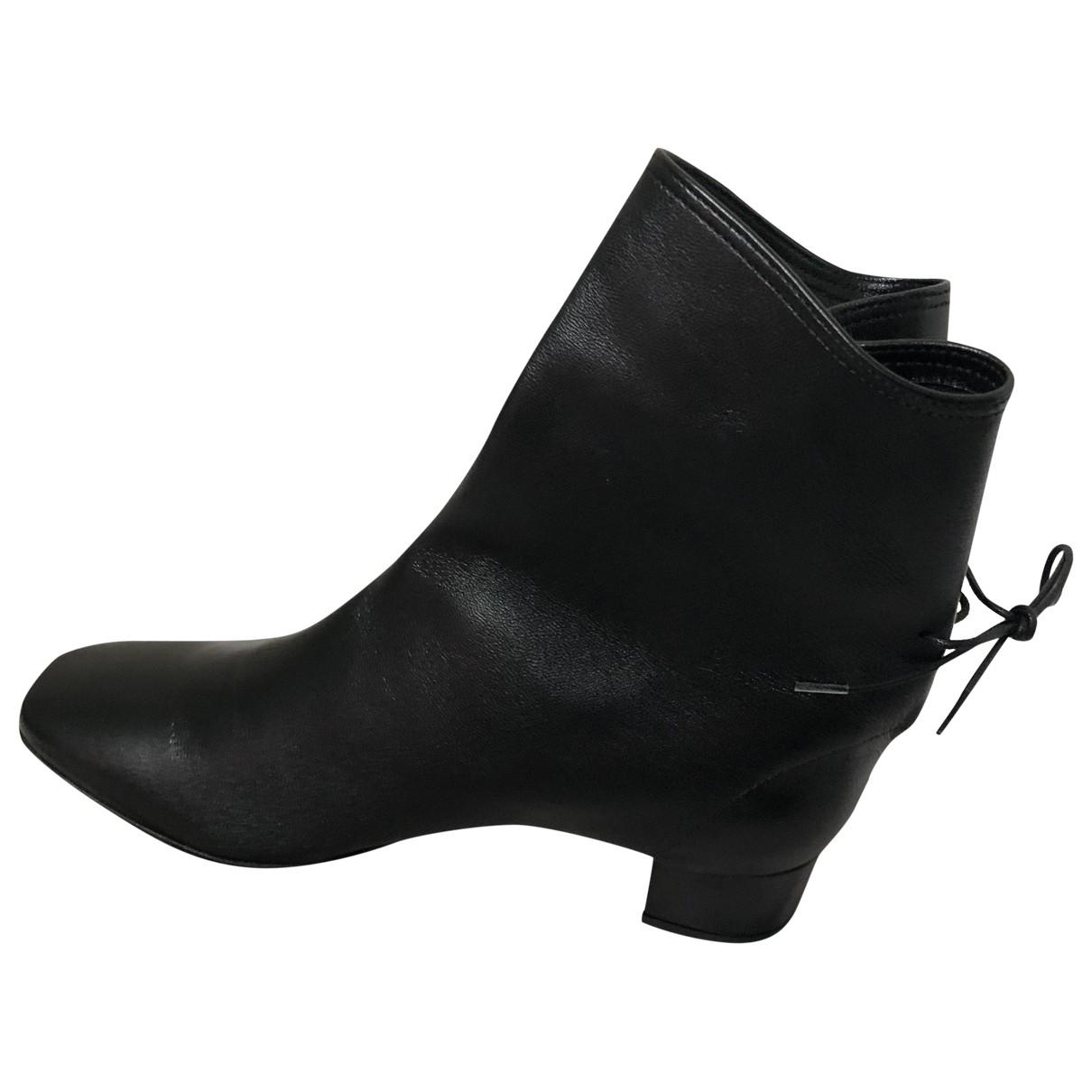 Solovière \N Black Leather Ankle boots for Women 38 EU