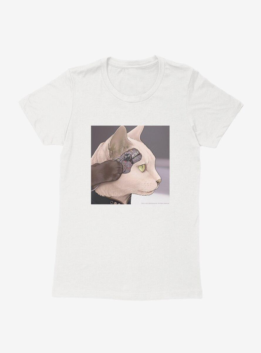 Star Trek The Next Generation Cats Commander Data Womens T-Shirt