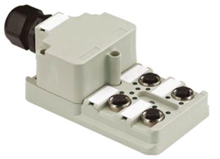 Weidmuller M12 Sensor Box, 4 Port