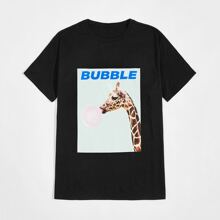 Guys Animal & letter Graphic Tee