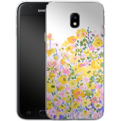 Samsung Galaxy J3 (2017) Silikon Handyhuelle - Flower Fields Sunshine von Amy Sia
