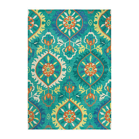Rizzy Home Arden Loft-Kavali Collection Emory Hand-Tufted Medallion Area Rug, One Size , Green