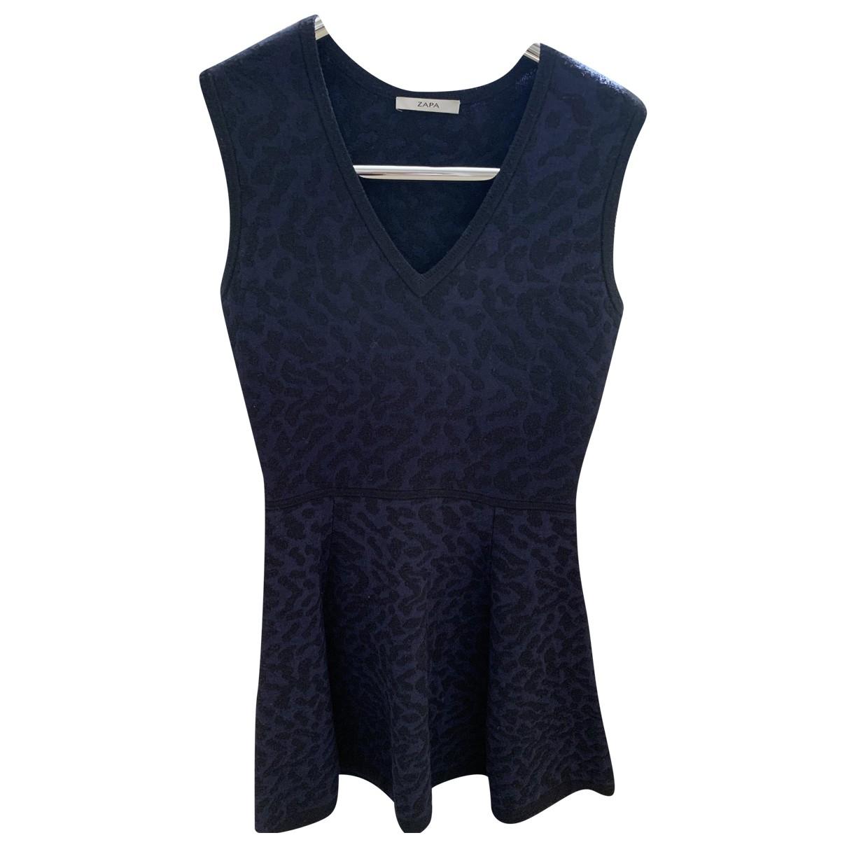 Zapa - Robe   pour femme en laine - noir