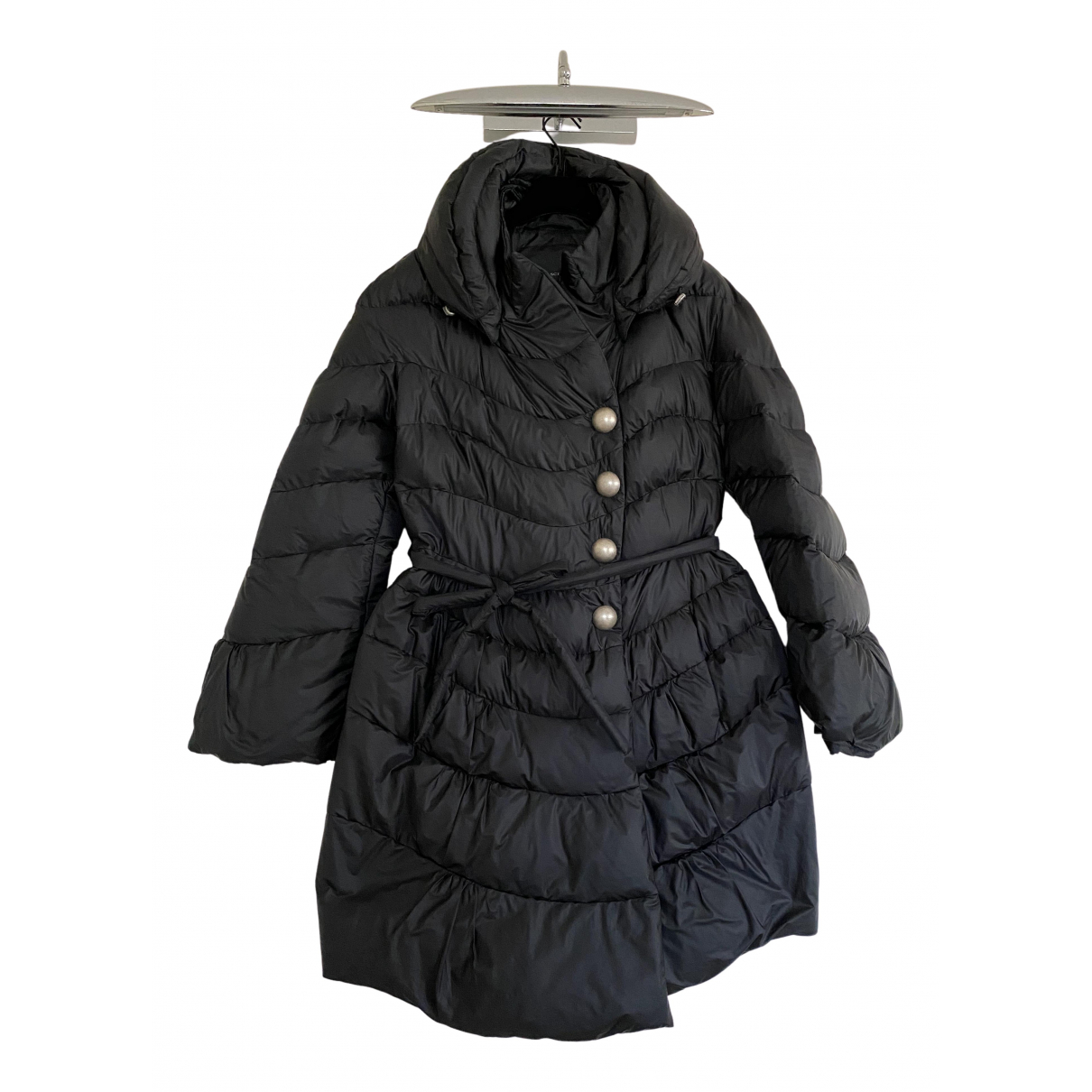 Ermanno Scervino \N Black coat for Women 44 IT