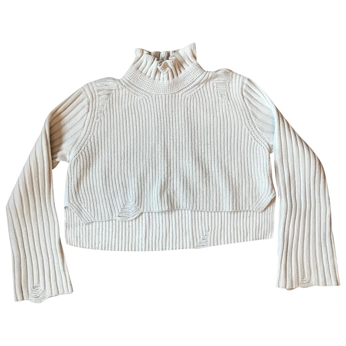 Golden Goose \N Ecru Wool Knitwear for Women 32 FR