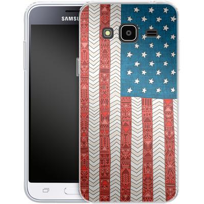Samsung Galaxy J3 (2016) Silikon Handyhuelle - USA von Bianca Green