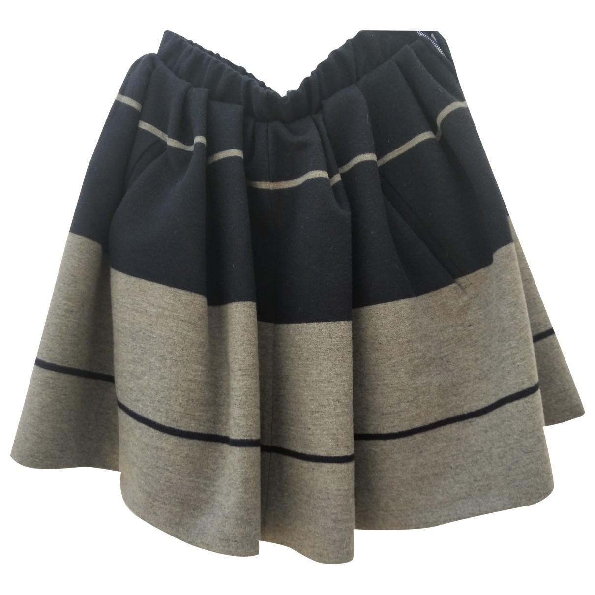 Acne Studios - Jupe   pour femme en laine - bleu