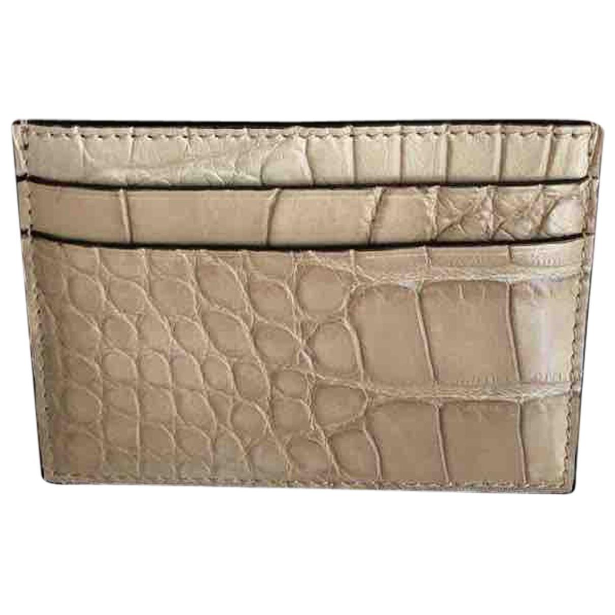 Gucci N Beige Python wallet for Women N