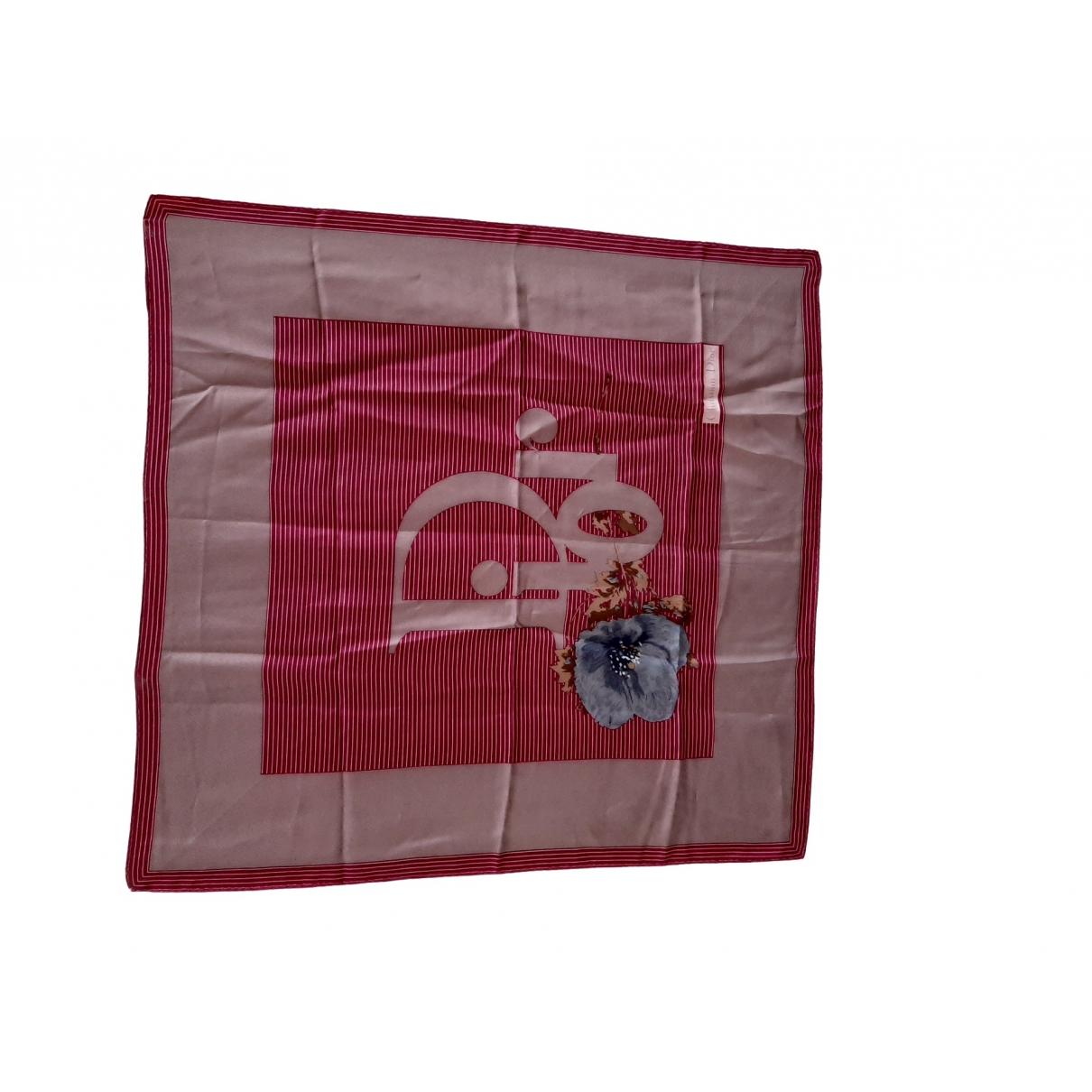 Dior \N Pink Silk Silk handkerchief for Women \N