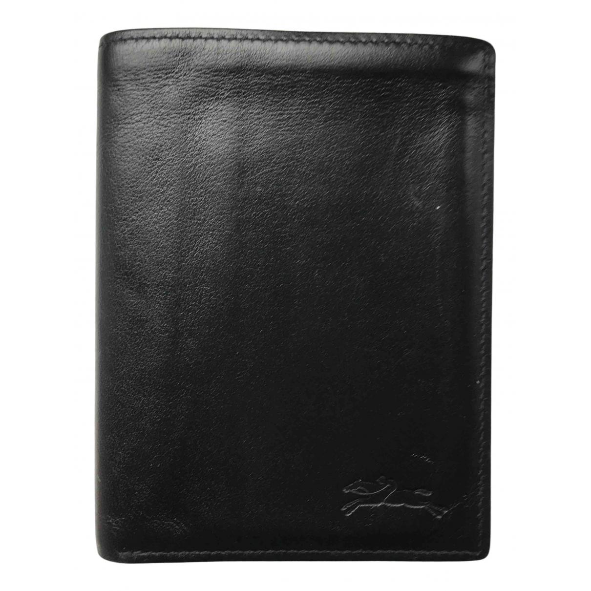Longchamp - Petite maroquinerie   pour homme en cuir - noir