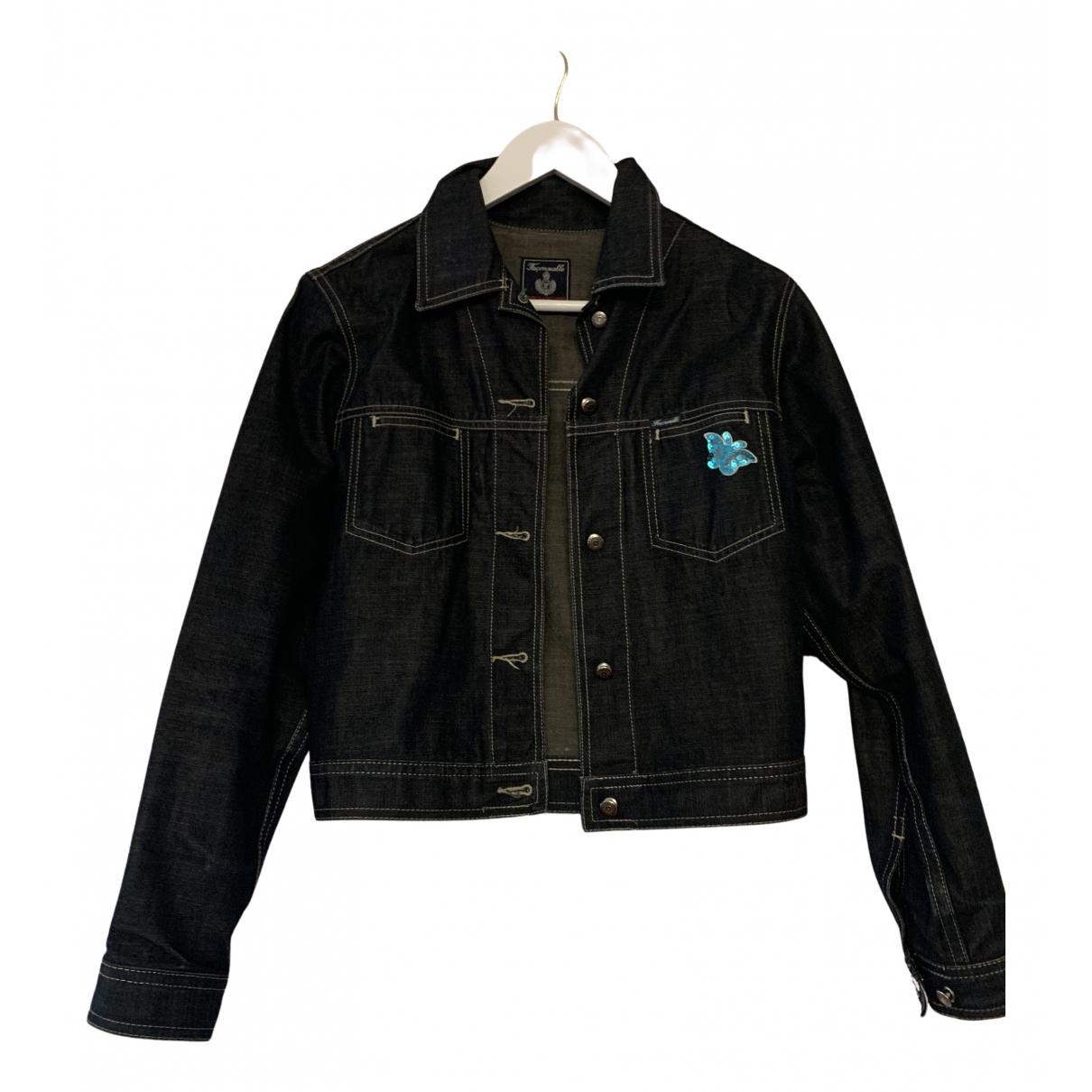 Faconnable \N Lederjacke in  Marine Denim - Jeans