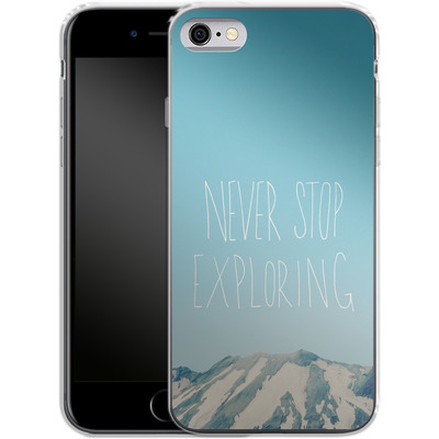 Apple iPhone 6s Silikon Handyhuelle - Never Stop Exploring von Leah Flores