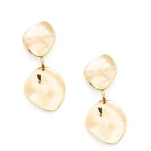 Double Flake Design Stud Earrings 1pair