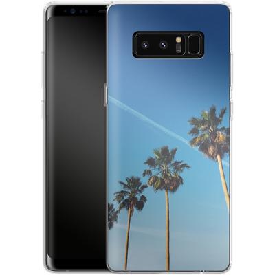 Samsung Galaxy Note 8 Silikon Handyhuelle - Palm Tree Paradise von Omid Scheybani